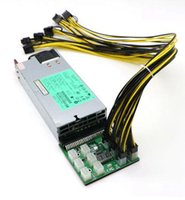 GPU 광업 전원 공급 장치 키트 - 12PCS PCI-E 6 + 2PIN 케이블과 1200W PSU 브레이크 아웃 보드