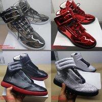 nuevo diseñador hombre zapatos casuales marca entrenador genuino cuero moda zapatos planos zapatos mmm lujo hombres fondos rojos zapatos hombre tops altos zapatillas de deporte