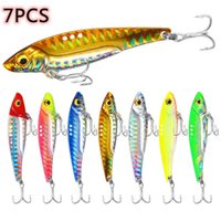 7pcs Metal Lure Fishing Lures Vib Blade Spinner Bait 3D Eyes Sinking Vibration Baits Artificial Vibe for Bass Pike Fish Perch 210622