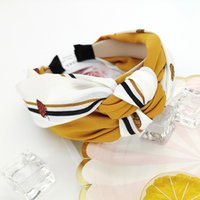 Nuevo tejido de tejido creativo cross nudo ancho lavado cara de lavado de la moda de la moda de la cabeza de la mujer Headjrqd