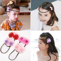 Coiffure Enfants Filles Bow Perruque Modélisation Super Fairy Princesse Chaîne Front Braid Cheveux Coiffure Coiffure Accessoires pour cheveux