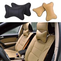 Seat Cushions 1 Pc Pair Car Pillow Headrest Driving Head Neck Breathable Automobile Pillows Rest Pad Interior PU Leather