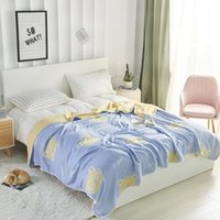 Blankets 2021 Design Cotton 6 Layers Gauze Anime Blanket AB Double Sided Sofa Bedspread Soft Breathable For Adult Kids Bed