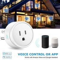 WiFi Smart Plug Adaptador Interruptor de pared Outlet de pared Socket Power Socket US UE UE Tapones de la UE para Alexa Connected Google Home App Work Control Remote Control