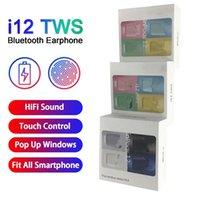 Inpods 12 المعكرون TWS سماعات بلوتوث I12 سماعة اللون BT5.0 سماعات لاسلكية في الأذن