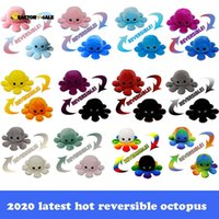 Reversible Flip Octopus Stuffed Doll Soft Simulation Reversible Plush Toy Color Chapter Plush Doll Filled Plush Child Toy Party Favors FM18