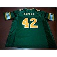 Kundenspezifische Bucht Jugendfrauen Vintage Edmonton Eskimos # 42 Dan Kepley Football Jersey Größe S-5XL oder benutzerdefinierte ja name oder nummer jersey