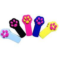 Footprint Form LED-Licht Laser Spielzeug Tease Lustige Katzenstangen Pet Katzen Spielzeug Kreative 5 Farben