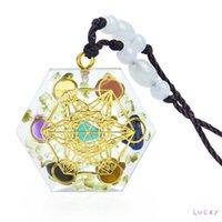 Pendant Necklaces Seven Colors Orgone Energy Natural Crystal Semi-precious Stones Necklace Pendants Orgonite For DIY Pendulum Amulet