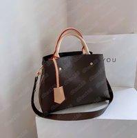 Designer di lusso Atchel Messenger Handbag Montaigne Bag in pelle maniglie a strim con borsa a tracolla a tracolla