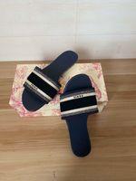 2021 Новый классический дизайнерские дамы модные сандалии дамы повседневная и удобное летающее шаттл напечатанные тапочки с коробкой