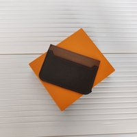 Card Holders Men and Women Fashion Classic Brown Flower Checkered Black Plaid Casual Credit Card ID Holder Leather Ultra Slim Wallet Packet Bag 62666 Wallets Holders