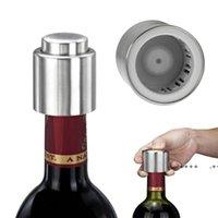 Pressing Type Bottle Stopper Aço Inoxidável Rolha de Vinho Vermelho Vácuo Vácuo Vinho Vermelho Garrafa de Vinho Spout Licor Rolo De Fluxo De Leite LEL9320