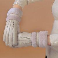 Five Fingers Gloves Winter Women Real Sheepskin Leather Wool Fur Solid Elegant Warm Female