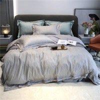 Set di biancheria da letto Super Quality BedDingSet 4pcs Light Light Luxury Style Style 100 Long-Staple Cotton Satin Jacquard Semplice Biancheria da letto