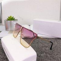 2021 women Retro Polarized Luxurys Mens Designers Sunglasses Rimless Gold Plated Square Frame Brands Sun Glasses Fashion Eyewear With box