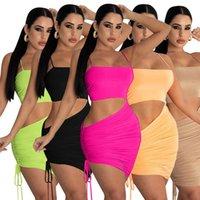 Summer Womens Dresses One Piece Dress Sexy Gallus Mini Gonna Casual Designer Maxi di alta qualità Elegante lusso Clubwear per donna vestiti 9025
