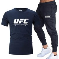 Men's Tracksuits 2021 Sportswear Suit T-shirt + Pants 2 Piece Men And Women Fashion Printed Casual Fitness