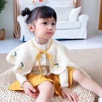 LZH infantil bebê meninas roupas definir novo outono inverno crianças roupas cereja tricô camisola saias 2 pcs terno roupas crianças 900 v2