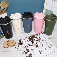 Botellas de agua 350/500 ml Taza de café Calor fresco Mantenga el aislamiento Taza de vacío Té Botella portátil para el hogar Outdoor Envíe la bolsa de regalo M9B4