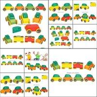 Diecast Cars GiftsCandy Cor Mini Brinquedos De Madeira Montagem Modelo Destacável Destacável Carro Para Criança Criança Nice Xmas Presente Drop Delivery 2
