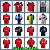 Manchester 98 99 Retro Home 1998 1999 Fussball Jerseys Mann United 00 02 06 07 08 UTD 91 92 93 94 95 96 Football Hemden