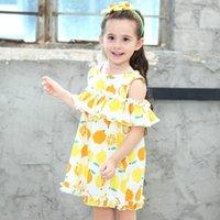 Girl's Dresses Baby Girls Dress 2021 Summer Cotton Little Print Kids Girl Fruit Children Clothes Size For 234 5 6 7 8 Years1