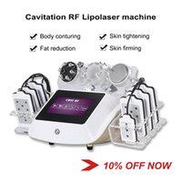 Machine de liposuccion laser 6 en 1 Cavitation ultrasonique Minceur Machines de 2 ans Garantie de 2 ans Lipo Lazer RF Vacuende RF Vidéo Fréquence Équipement de beauté