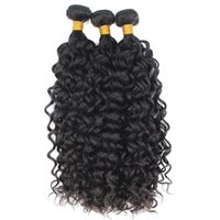 Water Wave Human Hair Extenisons non trasformato cuticola vergine allineata 1 bundle 10-30 pollici macchina doppia trama