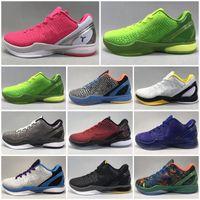 Mamba 6 Protro Grinch Bhm Del Sol Zapatillas de baloncesto Oro Negro Hombres Piense Pink Prelude Deportes Deportes Sneakers