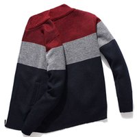 Kksky Cardigan Pull Hommes Sweathed Grey Grey Hommes Pull tricoté Cardigan Cardigan chaud Mens vêtements surdimensionné 3XL Style coréen Homme 2020 Y1011