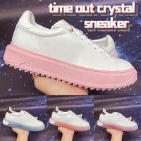 2021 مهلة كريستال حذاء luxucy إمرأة عارضة أحذية جامعة بلو وردي أبيض أزياء المرأة تصميم أحذية رياضية الحجم 35-40