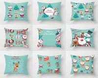 Cushion Decorative Pillow 2021 Christmas Cushion Cover 45X45 For Living Room Office Sofa Home Decor Decorative Blue