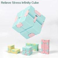 Infinito cubo candy cor fidget quebra-cabeça decompressão brinquedo mão spinners divertimento brinquedos adultos stress relevo presente antistress escritório trabalhadores de escritório rápido