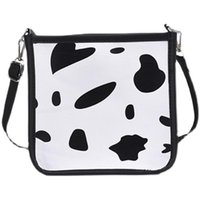 Evening Bags 2021 Animal Pattern Cow Print Canvas Shoulder Bag Vintage Ladies Small Purse Crossbody Fashion Casual Square