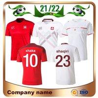 2021 Copa Europeia Suíça Soccer Jersey 21/22 Away Xhaka Akanji Zakaria Rodriguez Elvedi Maillots de Futebol Camisa Homem Nacional Homem Equipe Uniformes