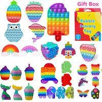 PUSH POPIT BURBUCE Fidget Juguete sensorial Análisis de estrés Estrés Alivio Juguetes Sensory Toys Estrés y Ansiedad Alivio Juguetes para niños con caja de regalo