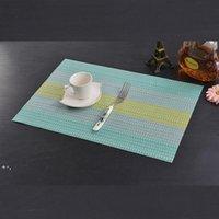 Estilo europeo PLACEMAT PVC mesa de mesa antideslizante a prueba de agua Aislamiento de calor desechable Pad Bowl Mat Matter Placemat OWD9869