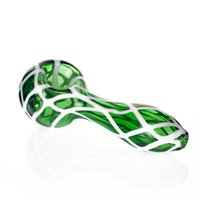 Smoking Pipes tube Handmade Spoon Pyrex Glass Pipe Bong 4.1 Inch With Green Color For smoke wholesale