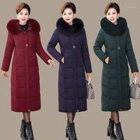 XL-5XL Warm Winter Jacket Women 2020 New Cotton Parka Slim Solid Color big fur Wadded Coat Plus Size Parka woman clothes1