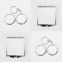 Termal Transfer Baskı Metal Makyaj Aynalar Diywhite Süblimasyon Boş Kozmetik Ayna Kadın Mini Paslanmaz Çelik Moda