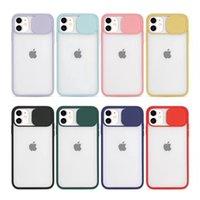 Slide Camera Lens Protection Phone Cases For iPhone 12 Mini 11 Pro XS Max XR X 6 6S 7 8 Plus SE Matte PC Cover Case Fundas