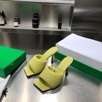 2021 slides plana lido sandálias tecidas mulheres chinelos quadrados mules sapato senhoras casamento altos saltos shoess vestido sapatos 10 cores de alta qualidade