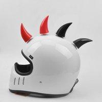 Motorcycle Helmets TiOODRE 1PC Car Helmet Devil Horn Motocross Full Face Off Road Decoration Accessories
