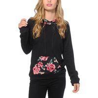 Women's Hoodies & Sweatshirts Fashion Women Long Sleeve Autumn Floral Sweatshirt Casual Hooded Jumper Pullover Tops Winter Clothing