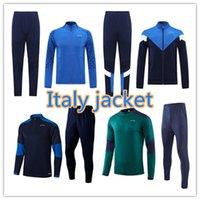 21 22 22 Italy Belotti Verratti National Team Soccer Training Suit 2021/22 Bonucci Manica corta Polo Camicia da calcio Jogging Tracksuit Chandal