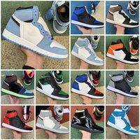 Erkek Basketbol Ayakkabıları 1 S Jumpman 1 Kadınlar Üniversitesi Mavi Hiper Kraliyet Duman Gri Obsidiyen Karanlık Mocha Büküm Chicago Pembe Spor 11 11s Sneaker Trainer