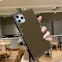 مصممي الفمهات المرآة الحالات الهاتف مع حجر الراين LL العلامة التجارية ل iPhone 12 ميني 11 برو ماكس XS XR XR X 8 7 زائد غطاء
