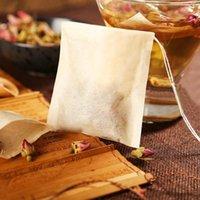 Bolsa de té Filtro Bolsas de papel Sellado de calor bolsas de té Tea Strainer Infuser Madera con cordón para la hierba Té suelto 3 tamaños NHB8485