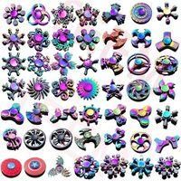120 tipos spinner brinquedo arco-íris mão spinners tri-fidget metal gyro dragão asas de olho olho brinquedos girando top handpinner witn caixa